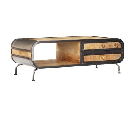 vidaXL Kavos staliukas, 100x50x35 cm, mango medienos masyvas[14/14]