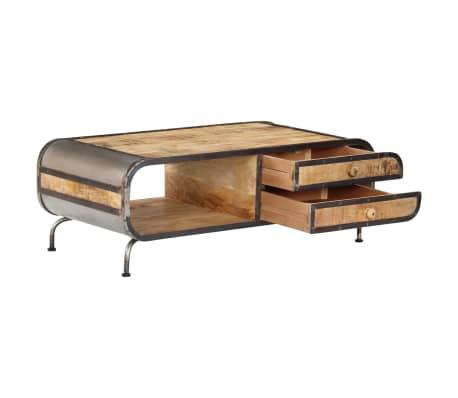 vidaXL Kavos staliukas, 100x50x35 cm, mango medienos masyvas[5/14]