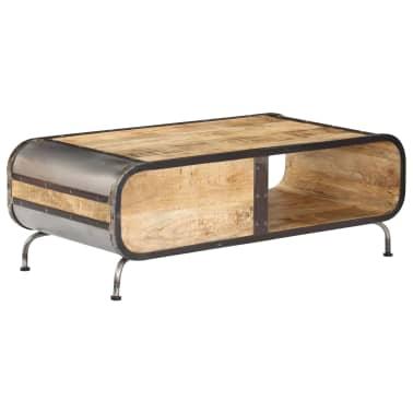 vidaXL Kavos staliukas, 100x50x35 cm, mango medienos masyvas[3/14]