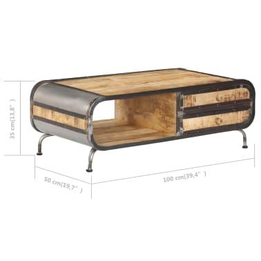 vidaXL Kavos staliukas, 100x50x35 cm, mango medienos masyvas[9/14]