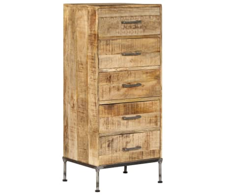 vidaXL Ladičar od masivnog drva manga 45 x 35 x 106 cm