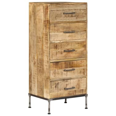 vidaXL Komoda su stalčiais, 45x35x106cm, mango medienos masyvas[1/13]