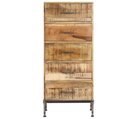 vidaXL Komoda su stalčiais, 45x35x106cm, mango medienos masyvas[2/13]