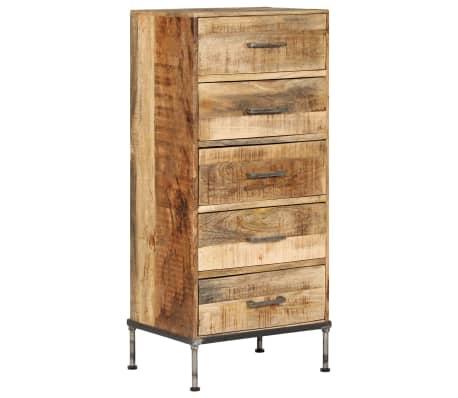 vidaXL Komoda su stalčiais, 45x35x106cm, mango medienos masyvas[11/13]