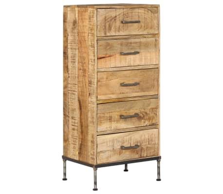 vidaXL Komoda su stalčiais, 45x35x106cm, mango medienos masyvas[12/13]