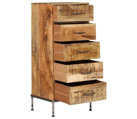 vidaXL Komoda su stalčiais, 45x35x106cm, mango medienos masyvas[4/13]