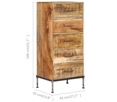 vidaXL Komoda su stalčiais, 45x35x106cm, mango medienos masyvas[8/13]