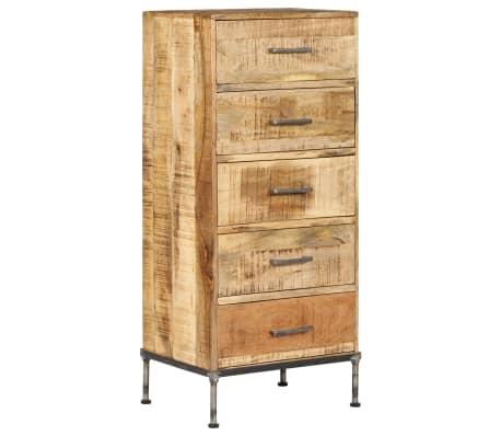 vidaXL Komoda su stalčiais, 45x35x106cm, mango medienos masyvas[10/13]