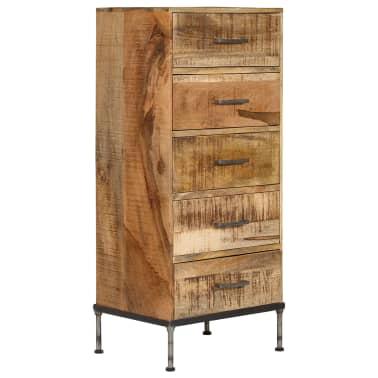 vidaXL Komoda su stalčiais, 45x35x106cm, mango medienos masyvas[13/13]