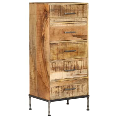 vidaXL Komoda su stalčiais, 45x35x106cm, mango medienos masyvas[9/13]