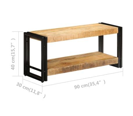 vidaXL TV omarica 90x30x40 cm trden mangov les[8/13]