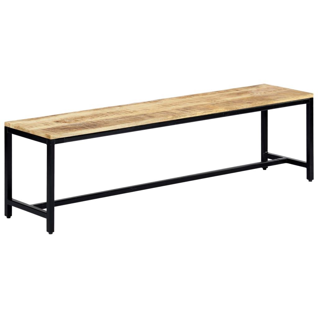 vidaXL Bancă de bucătărie, 160 cm, lemn masiv de mango nefinisat imagine vidaxl.ro