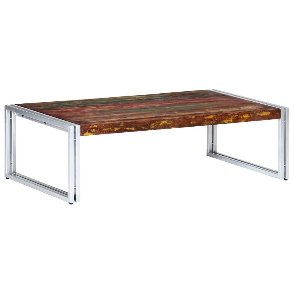 vidaXL Salontafel 120x60x35 cm massief gerecycled hout