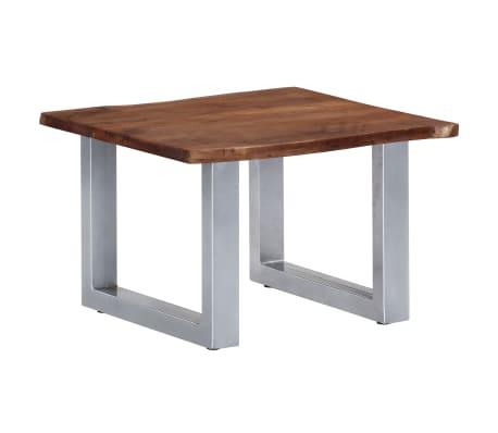 vidaXL Kavos staliukas, neapdirbt. krašto, 60x60x40cm, akac. med. mas.[1/12]