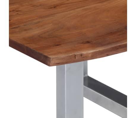 vidaXL Kavos staliukas, neapdirbt. krašto, 60x60x40cm, akac. med. mas.[5/12]