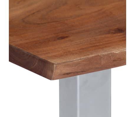vidaXL Kavos staliukas, neapdirbt. krašto, 60x60x40cm, akac. med. mas.[6/12]