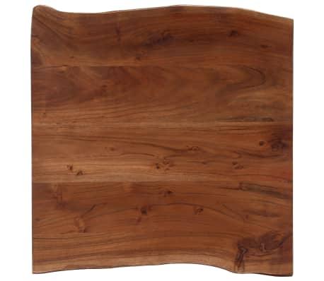 vidaXL Kavos staliukas, neapdirbt. krašto, 60x60x40cm, akac. med. mas.[7/12]