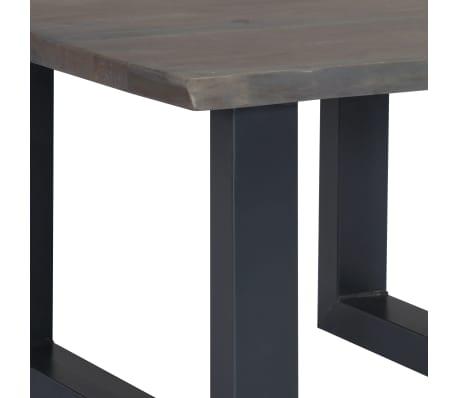 vidaXL Kavos stal., 60x60x40cm, pilk. sp., akac. med. mas. ir geležis[6/12]