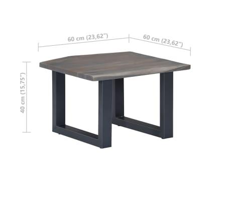 vidaXL Kavos stal., 60x60x40cm, pilk. sp., akac. med. mas. ir geležis[8/12]
