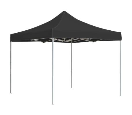 vidaXL Profesionalni šotor za zabave aluminij 3x3 m antracit