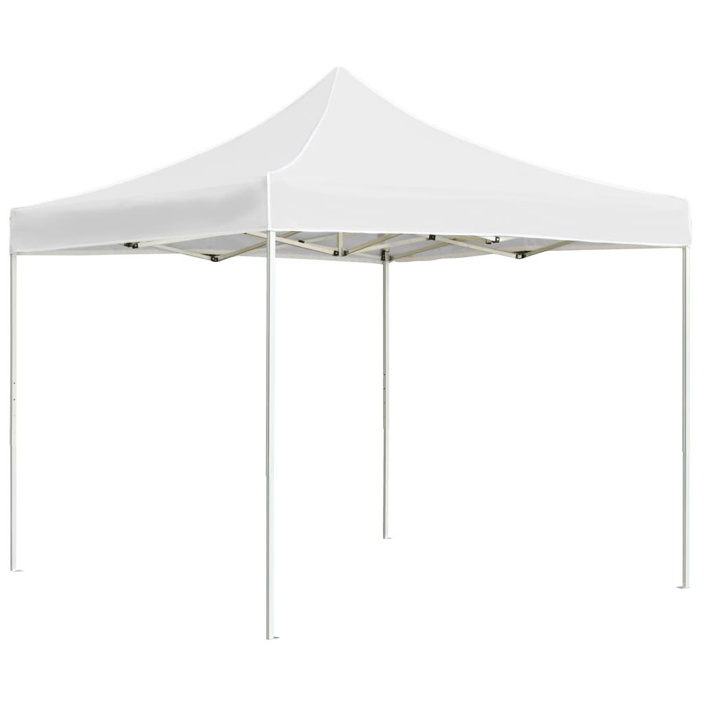 vidaXL Partytent professioneel inklapbaar 3x3 m aluminium wit