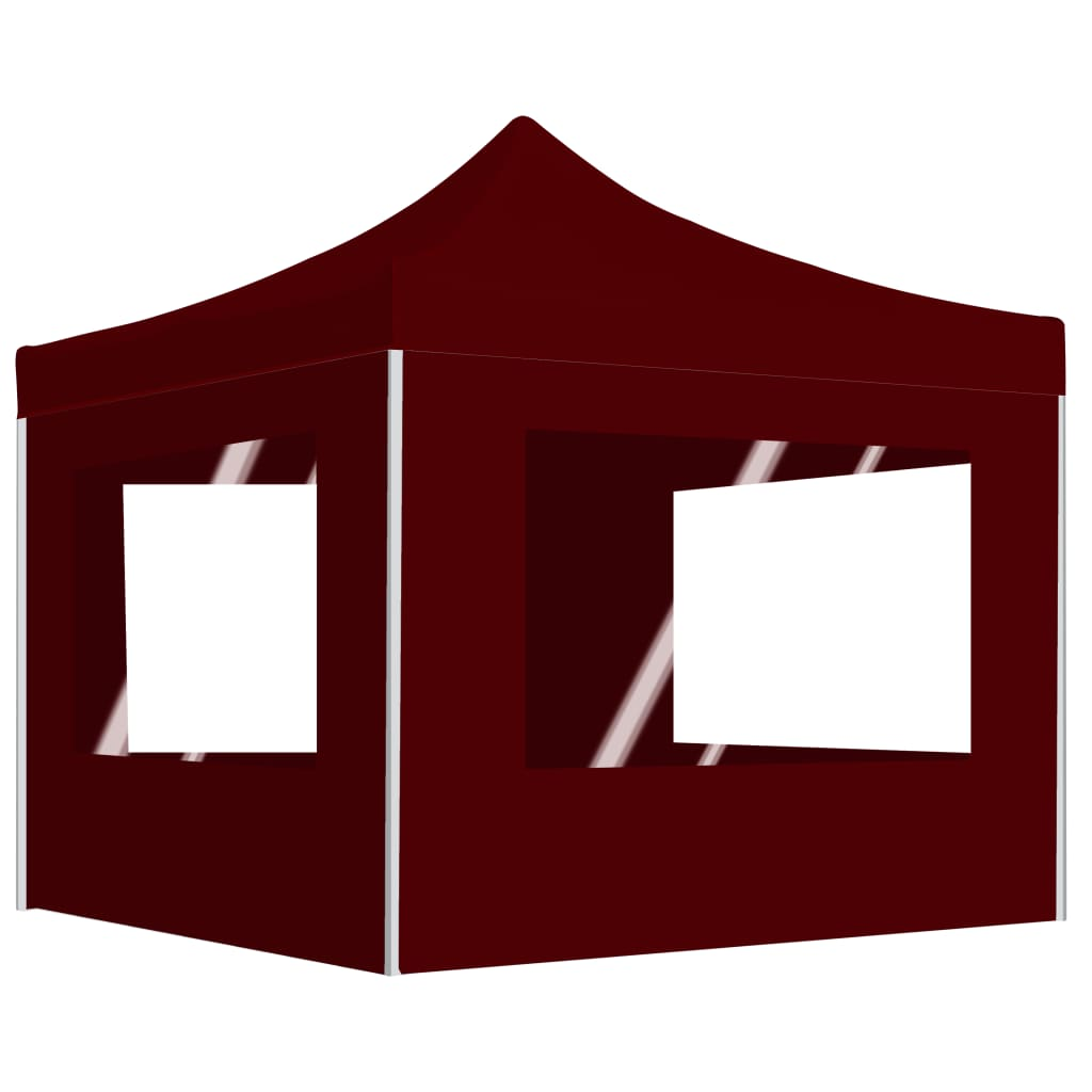 vidaXL Cort de petrecere pliabil cu pereți, roșu vin, 3x3 m, aluminiu poza 2021 vidaXL