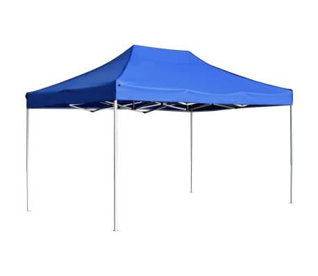 vidaXL Partytent professioneel inklapbaar 4,5x3 m aluminium blauw