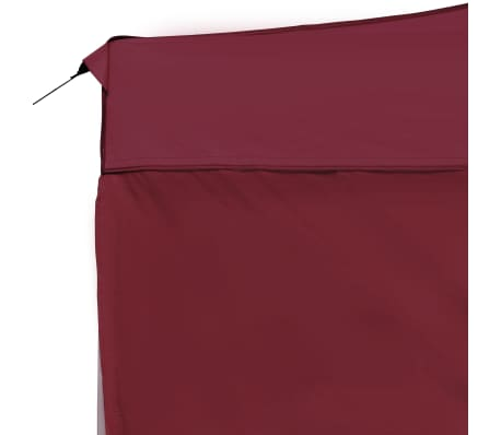 vidaXL Carpa plegable profesional y paredes aluminio rojo tinto 4,5x3m