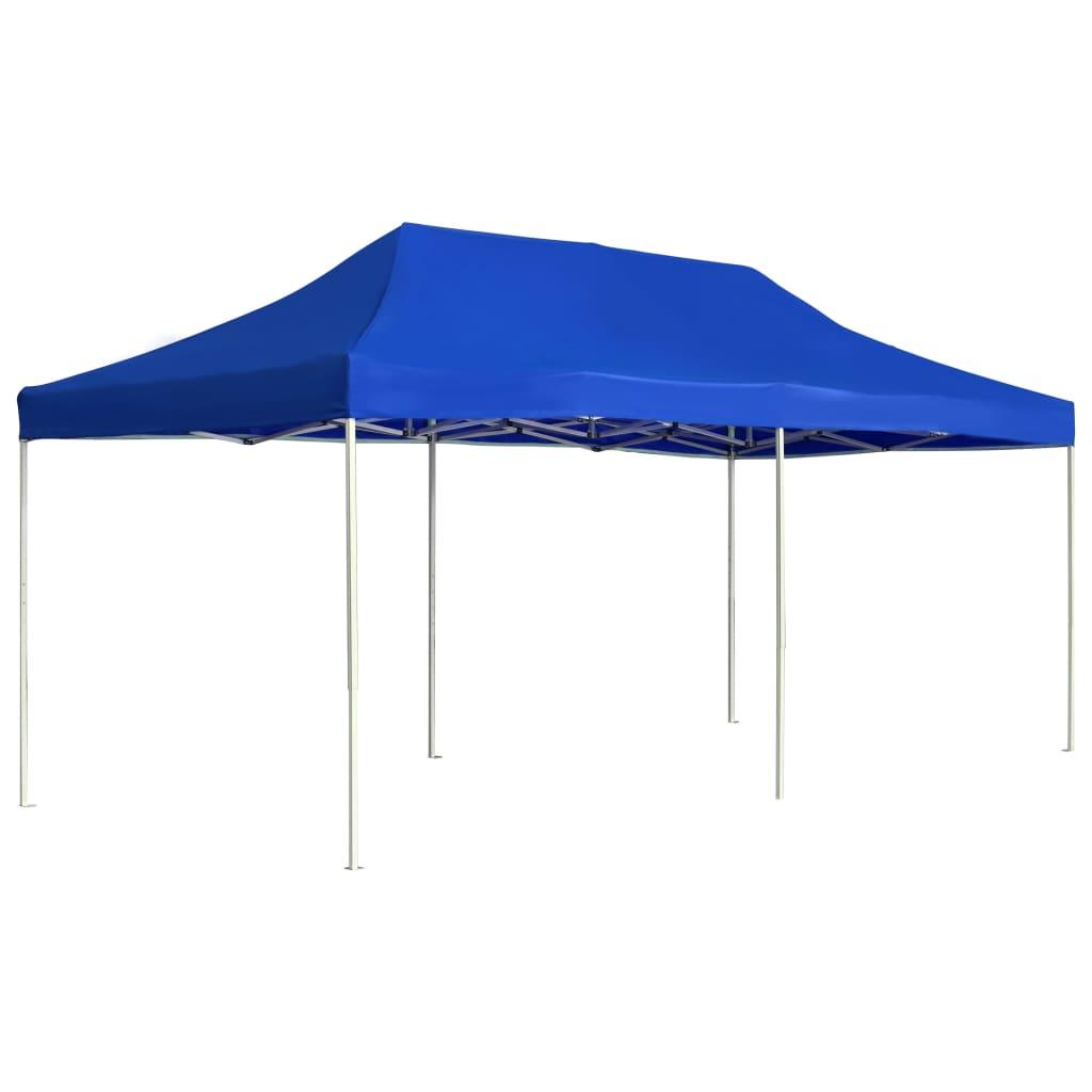 vidaXL Cort de petrecere pliabil profesional albastru 6x3 m aluminiu imagine vidaxl.ro