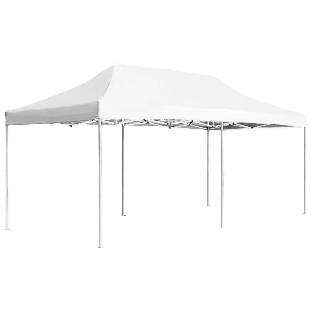vidaXL Partytent professioneel inklapbaar 6x3 m aluminium wit
