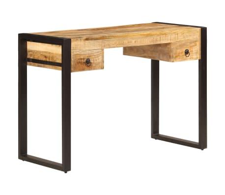 "vidaXL Desk with 2 Drawers 43.3""x19.7""x30.3"" Solid Mango Wood[1/14]"