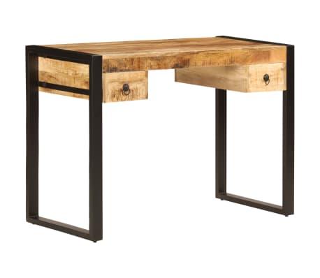 "vidaXL Desk with 2 Drawers 43.3""x19.7""x30.3"" Solid Mango Wood[12/14]"