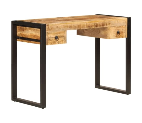 "vidaXL Desk with 2 Drawers 43.3""x19.7""x30.3"" Solid Mango Wood[13/14]"
