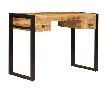 "vidaXL Desk with 2 Drawers 43.3""x19.7""x30.3"" Solid Mango Wood[14/14]"