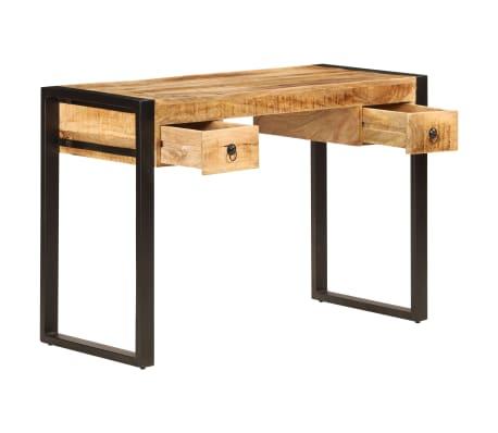 "vidaXL Desk with 2 Drawers 43.3""x19.7""x30.3"" Solid Mango Wood[3/14]"