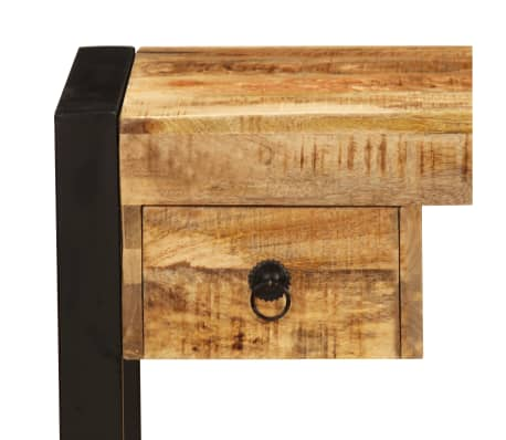 vidaXL Bureau avec 2 tiroirs 110x50x77 cm Bois solide de manguier[4/14]