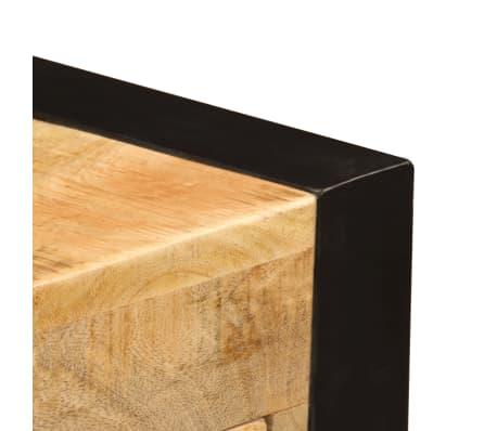vidaXL Bureau avec 2 tiroirs 110x50x77 cm Bois solide de manguier[7/14]