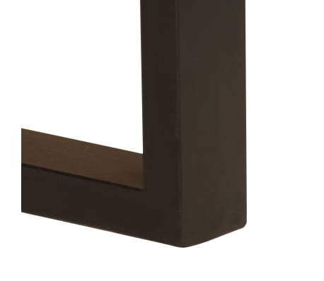 "vidaXL Desk with 2 Drawers 43.3""x19.7""x30.3"" Solid Mango Wood[8/14]"
