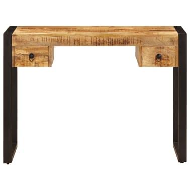 "vidaXL Desk with 2 Drawers 43.3""x19.7""x30.3"" Solid Mango Wood[2/14]"