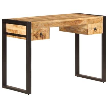 "vidaXL Desk with 2 Drawers 43.3""x19.7""x30.3"" Solid Mango Wood[11/14]"