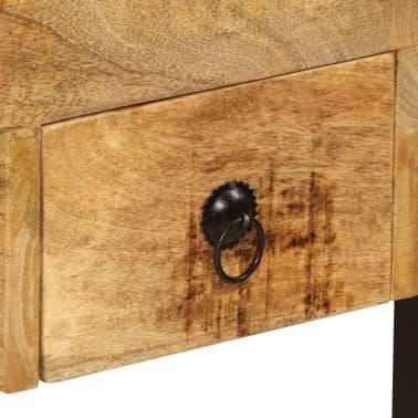 "vidaXL Desk with 2 Drawers 43.3""x19.7""x30.3"" Solid Mango Wood[5/14]"