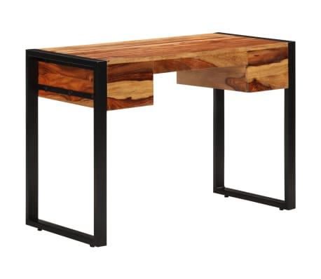 vidaXL Desk with 2 Drawers 110x50x77 cm Solid Sheesham Wood[4/13]