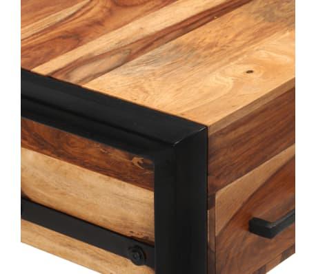 vidaXL Desk with 2 Drawers 110x50x77 cm Solid Sheesham Wood[5/13]