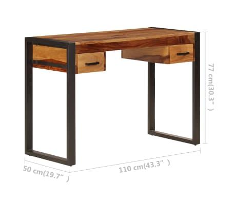 vidaXL Desk with 2 Drawers 110x50x77 cm Solid Sheesham Wood[9/13]