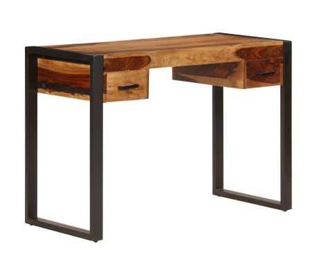 vidaXL Desk with 2 Drawers 110x50x77 cm Solid Sheesham Wood[10/13]