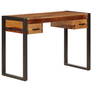 vidaXL Desk with 2 Drawers 110x50x77 cm Solid Sheesham Wood[12/13]