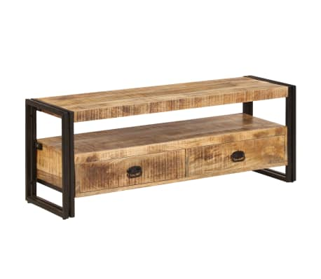 vidaXL TV Cabinet 120x35x45 cm Solid Mango Wood[14/15]