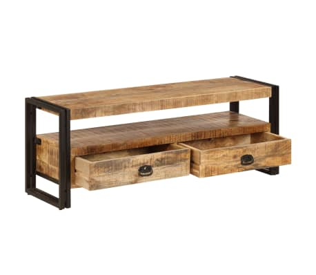 vidaXL TV Cabinet 120x35x45 cm Solid Mango Wood[3/15]