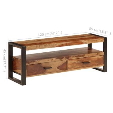 vidaXL Tv-meubel 120x35x45 cm massief sheeshamhout[12/14]