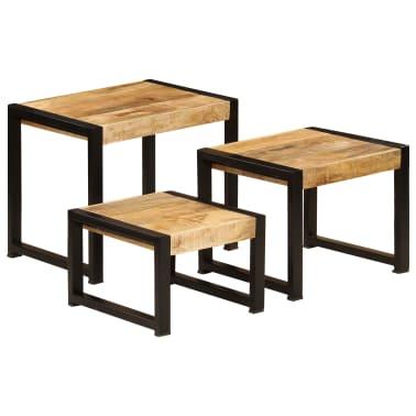 vidaXL Nesting Tables 3 pcs Solid Mango Wood[1/13]